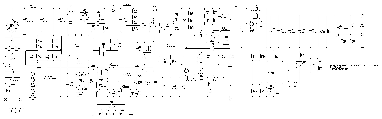 схема импульсногой блока питания на 1 квтт