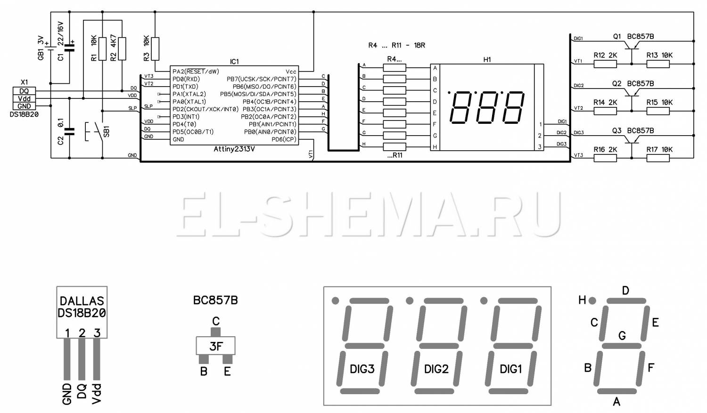 Термометр с индикатором своими руками 138