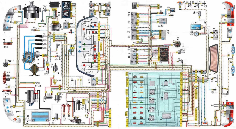 схема электропроводки ваз 2107 генератора