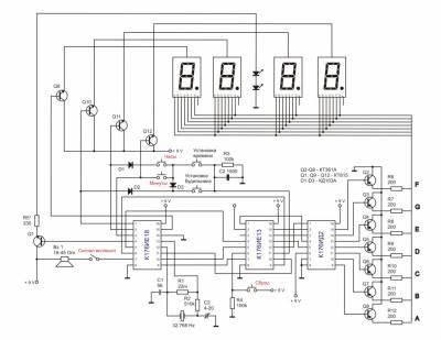 Электрические схемы цифровых