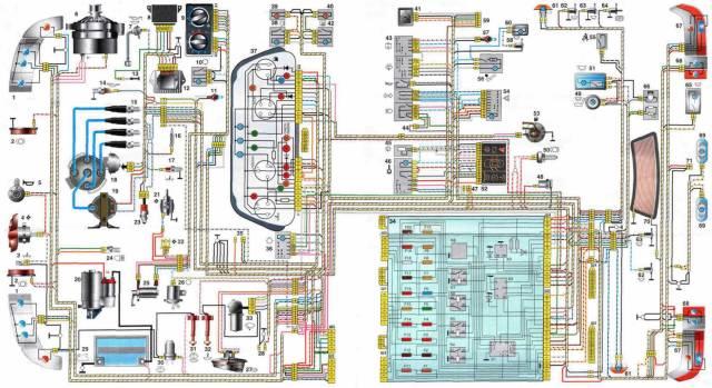 Электрическая схема ВАЗ-2110