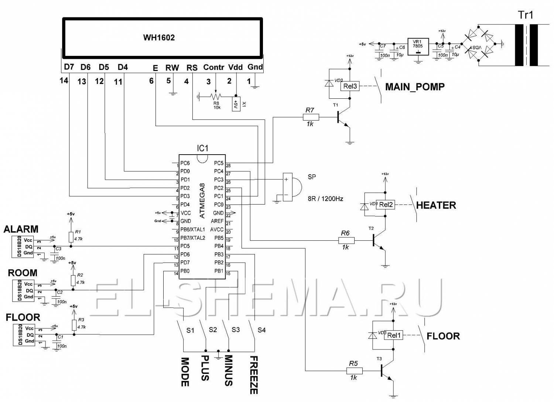 Схема терморегулятора для теплого пола своими руками схема фото 472