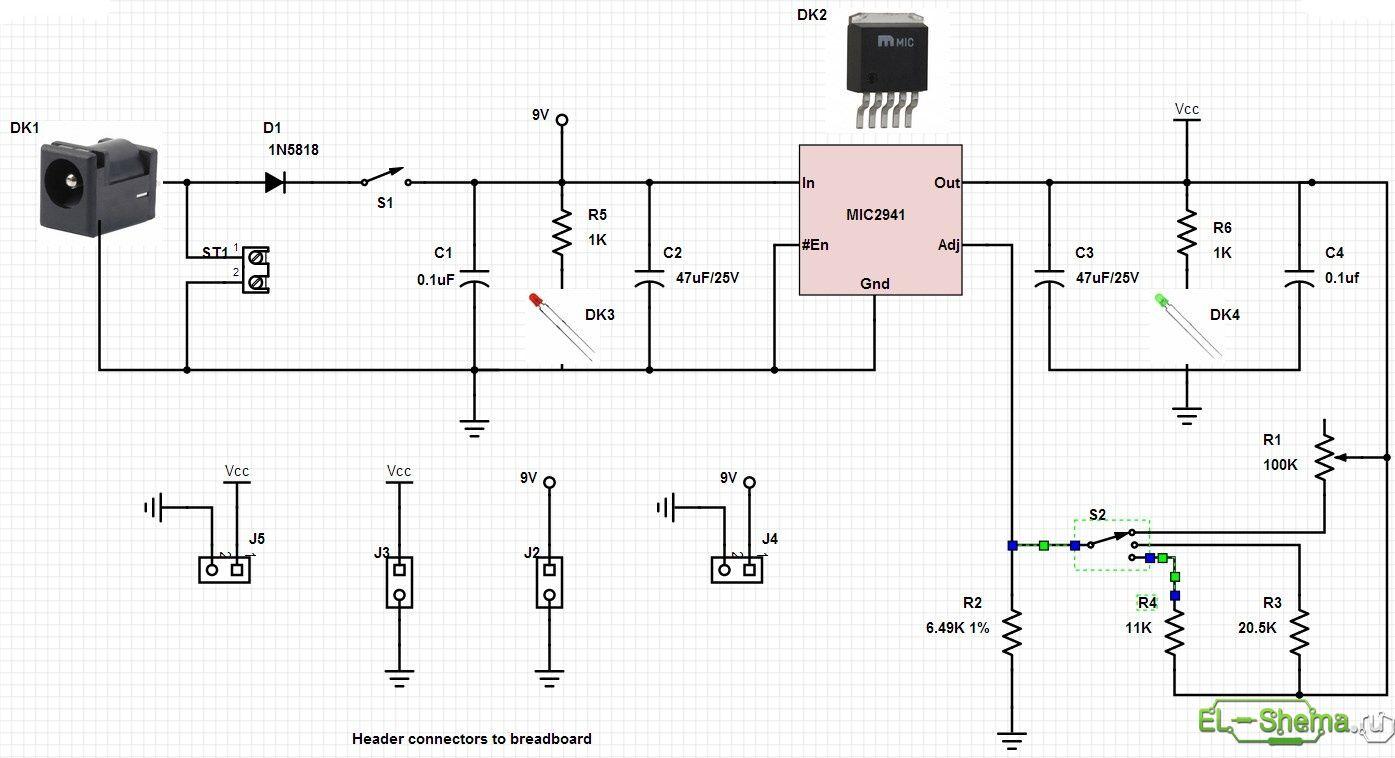 схема самодельного стабилизатора тока