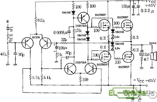Схема простого MOSFET