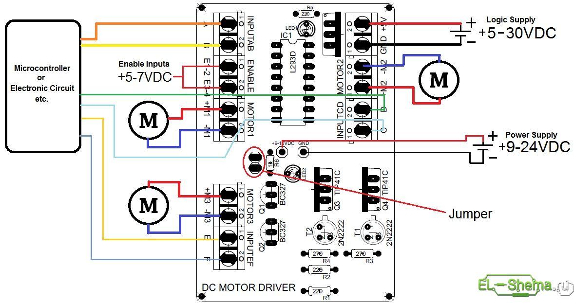 Схема сборки драйвера мотора