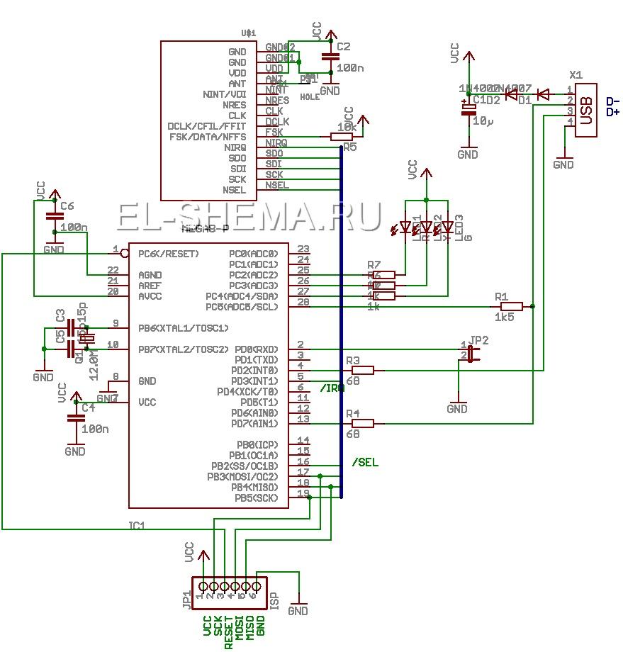 термометр с цифровой индикацией схема