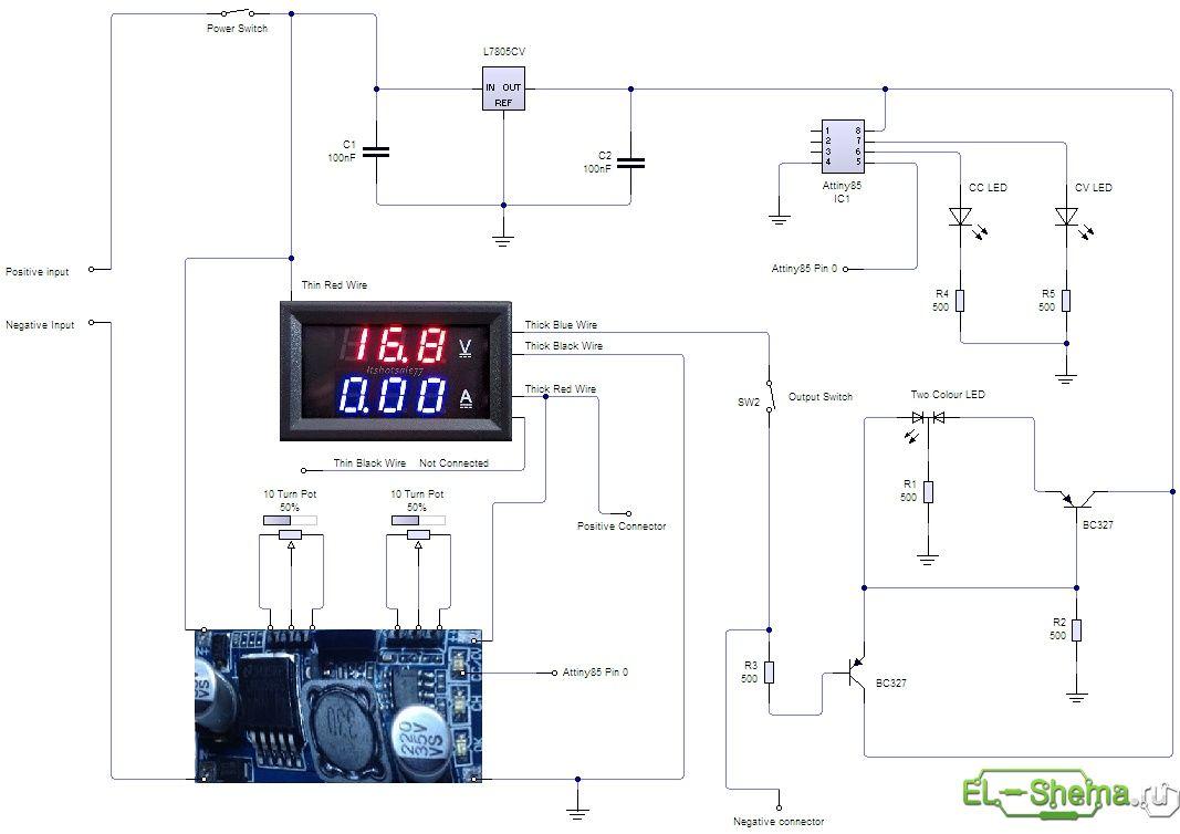 Lm2596s импульсный регулируемый 5a схема