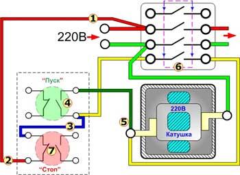 Схема подключения реверсивного двигателя фото 492