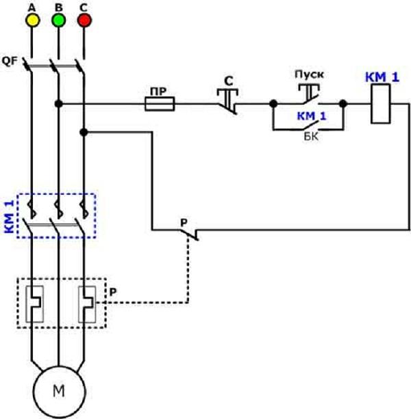 Схема магнитного пускателя катушкой фото 818