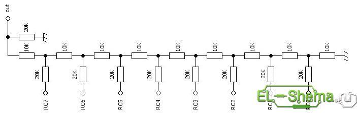 Принципиальная схема делителя