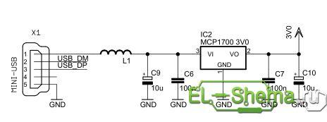Схема <g usb осциллографа