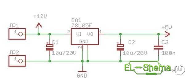 Автоматическое зарядное на микросхеме 7805