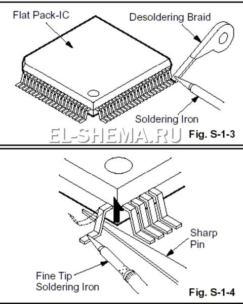 способ простого демонтажа микросхем