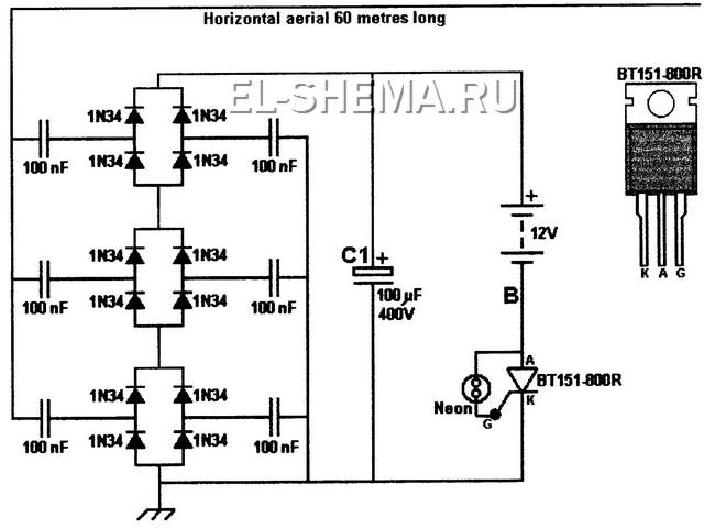 Практическая схема генератора свободной энергии 168