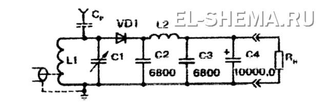 схема электричество из эфира