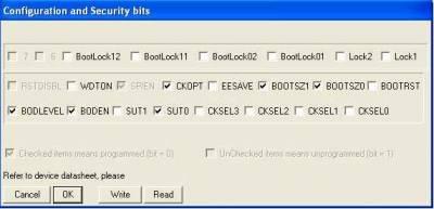 фьюз-биты контроллера
