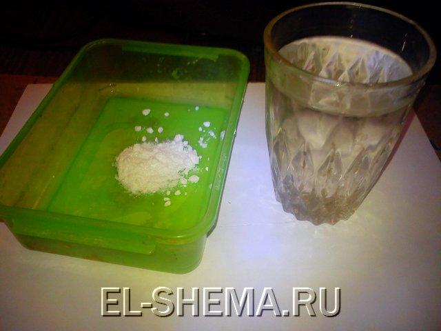 В качестве проявителя использую кальцинированную соду