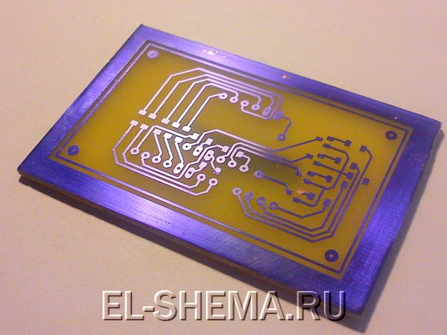изготовление печатной платы с помощью пленочного фоторезиста - 2