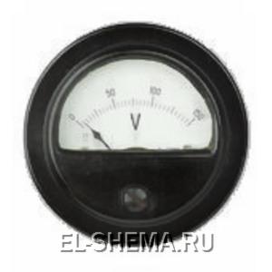 старинный вольтметр для контроля входного напряжения