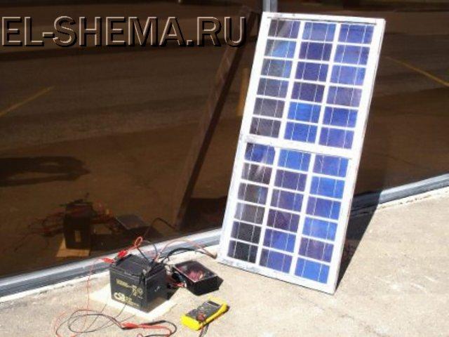 Испытания контроллера с солнечной панелью