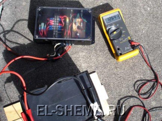 Испытания контроллера с солнечной панелью 2