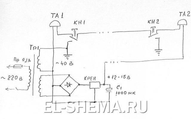 Схема подключения магнетрона