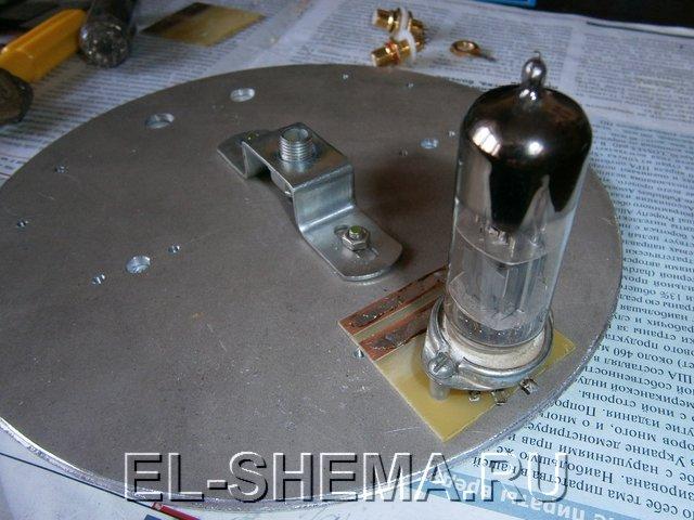 монтаж ламп в УНЧ