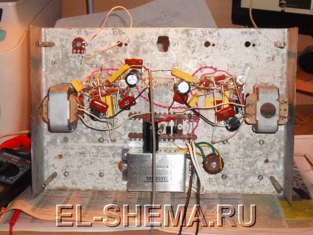 Золотая середина схема лампового усилителя мощности предварительного усилителя фонокорректора для винила блока питания.