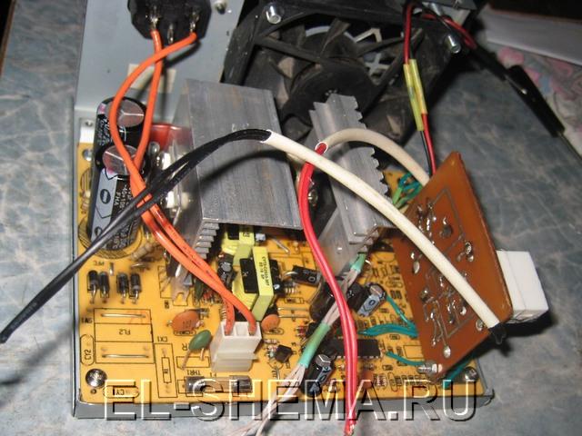 мощное зарядное устройство из БП АТХ - пошаговая инструкция.