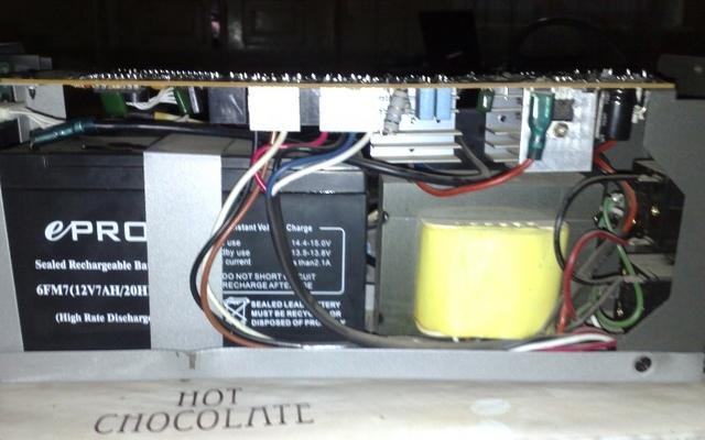 BACK UPS - аккумулятор в схеме