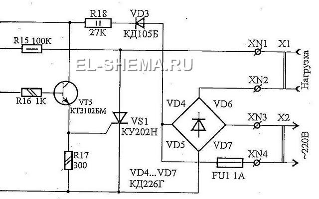 Схема электрическая автомата