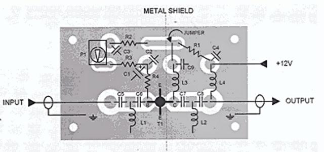 Схема печатной платы для