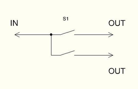 Схема двойного выключателя