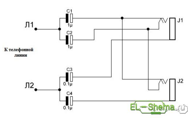 Схема адаптера для записи
