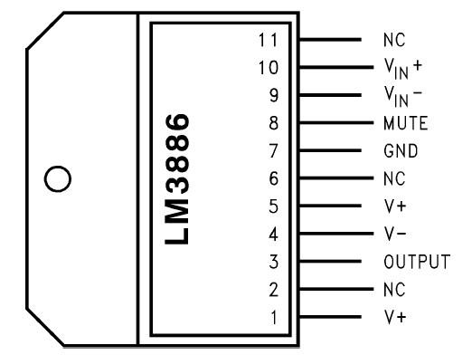 LM3886 - цоколёвка