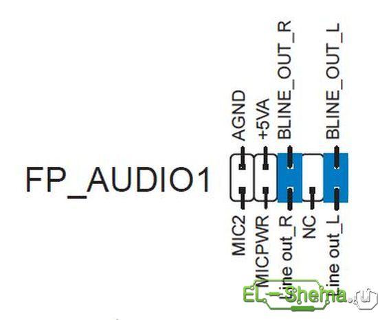 Подключение fp audio Здесь