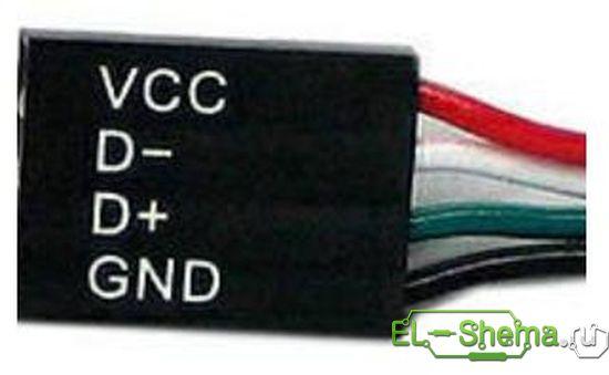 Разъем подключения к USB