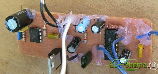 Спаянная Схема самодельного металлоискателя
