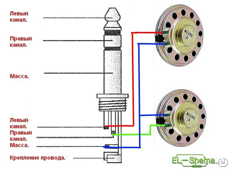 Схема соединения проводов для