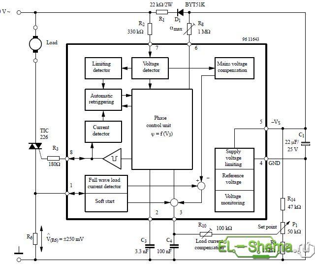 Схема микросхемы U2008