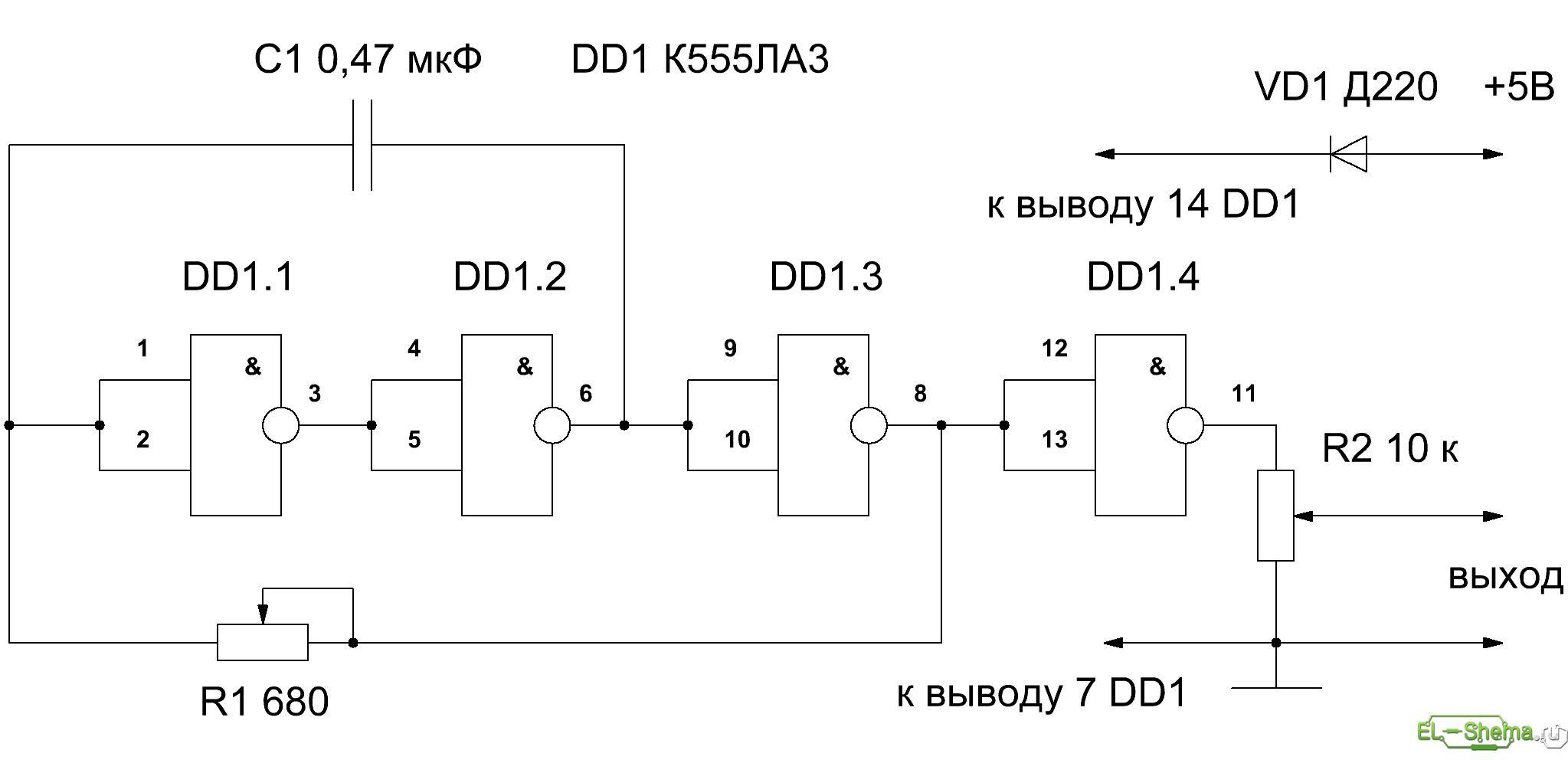 Схема простого звукового генератора фото 640