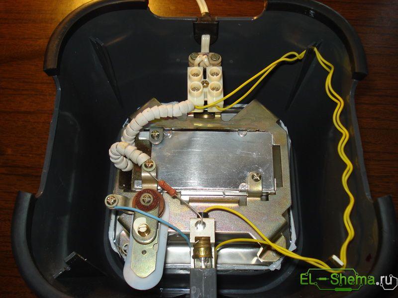 электронагреватель, термовыключатель и колодка